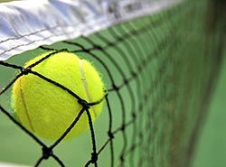 Available equipment for tennis clubs on training camp in Barcelona, Spain