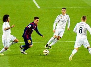 Lionel Messi in El Clasico - Real Madrid vs FC Barcelona