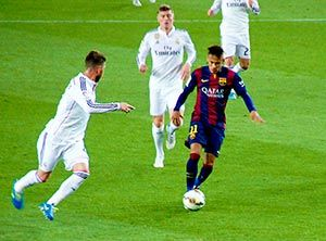 Neymar in El Clasico - Real Madrid vs FC Barcelona