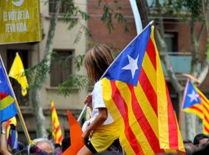 Young and old in the streets on Catalonia's National Day