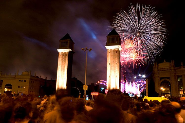 New years eve celebration in Barcelona